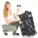 Semptec Urban Survival Technology Reisetasche mit Rollen: 2in1-Trolley-Reisetasche aus reißfester Lkw-Plane, 100 l (Reisetasche LKW Plane Rollen) de la marque Semptec Urban Survival Technology image 2 produit