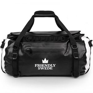 The Friendly Swede Wasserdichter Duffle Bag Rucksack - Reisetasche Segeltasche 35L - versiegelte Nähte, ergonomische Gurte und Rollverschluss, aus robuster LKW Plane - VAXHOLM de la marque The Friendly Swede image 0 produit